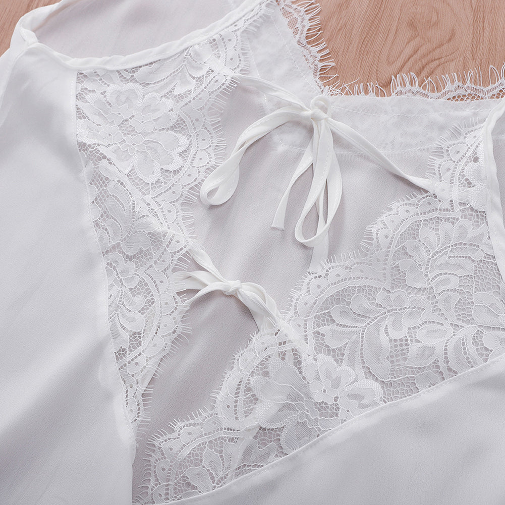 Lace White Camisole Tops