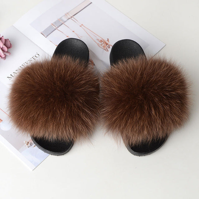 Real Fur Slides