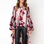 Lantern Sleeve Irregular Blouse