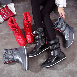 Ankle Waterproof Red Booties