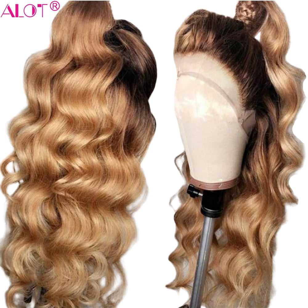 Honey Blonde Lace Front Human Hair Wigs