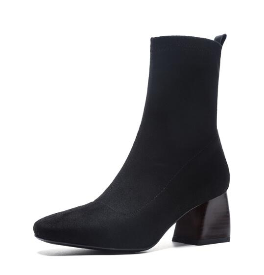 Casual Square Low Heel Boots