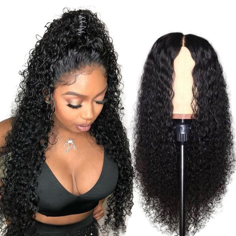 HD Transparent Invisible Lace Wig 13*6 Lace Frontal Human Hair Wigs Curly