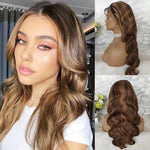 Highlight Honey Blonde 13x6 Lace Front Human Hair Wig Brazilian