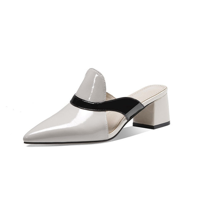 Patent Leather Slip On Shoes