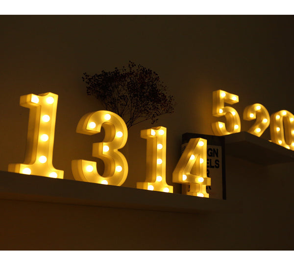 Alphabet Letter LED Lights Marquee Sign Number Lamp