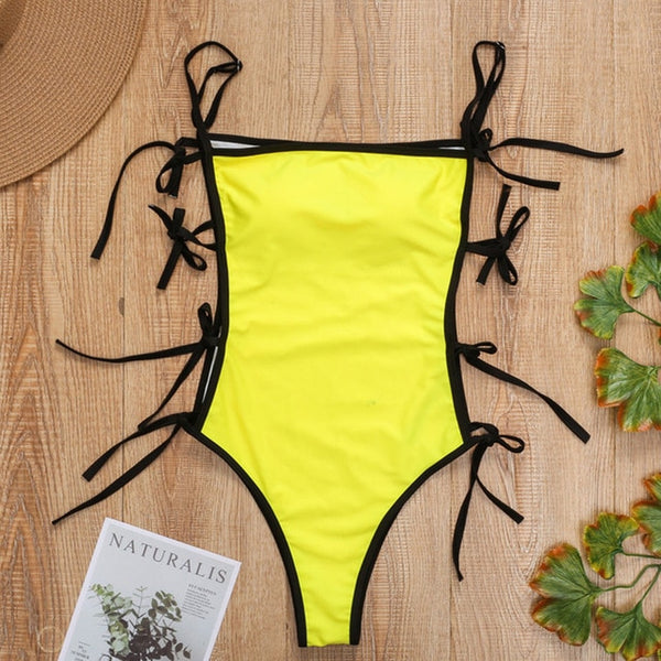 One Piece Swimsuit Bandeau String Monokini