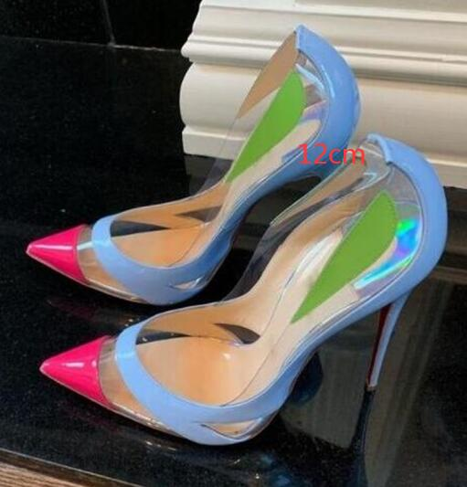Pointed Toe Multi-colors Stiletto