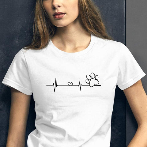 Paw Heartbeat Dog Lover T Shirt