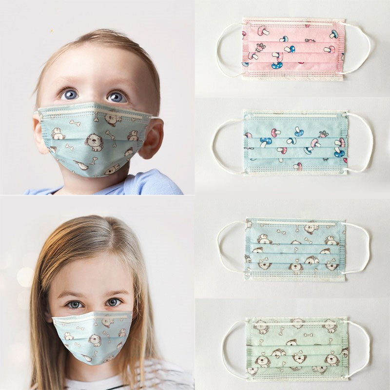 Children/Infant Cartoon Three-layer Face Protection 10pcs