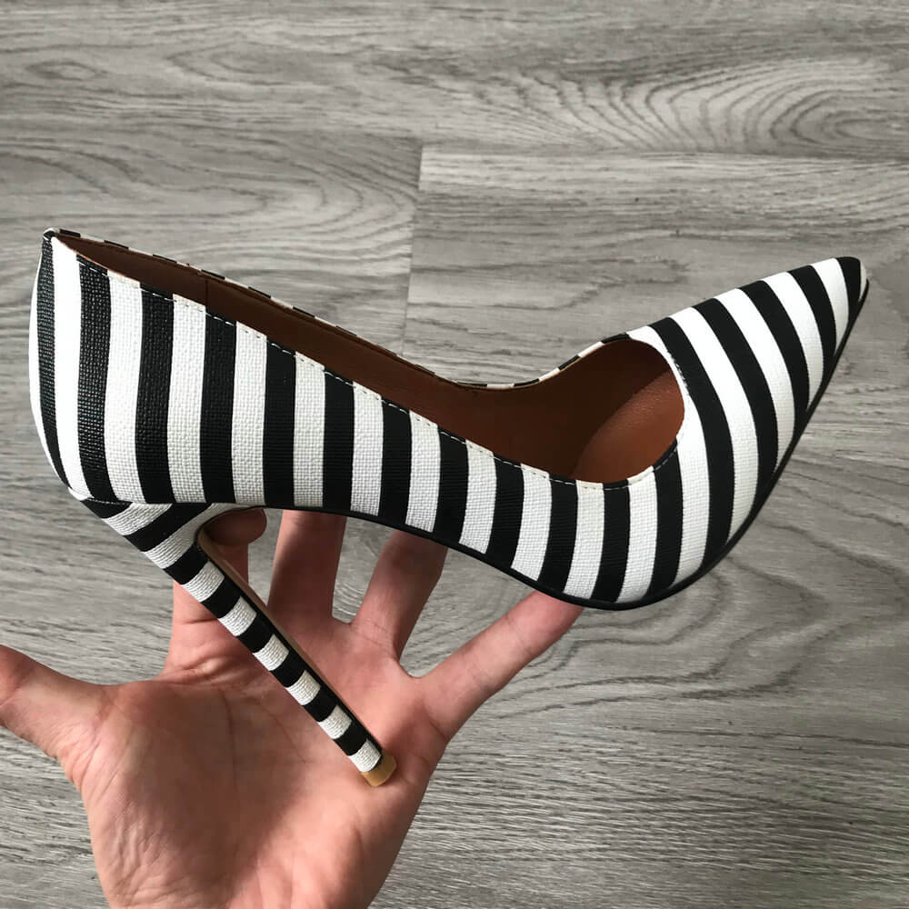 Black & White Zebra Pattern Shoes