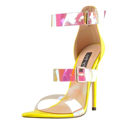 Colorful Ankle Strap Sandals