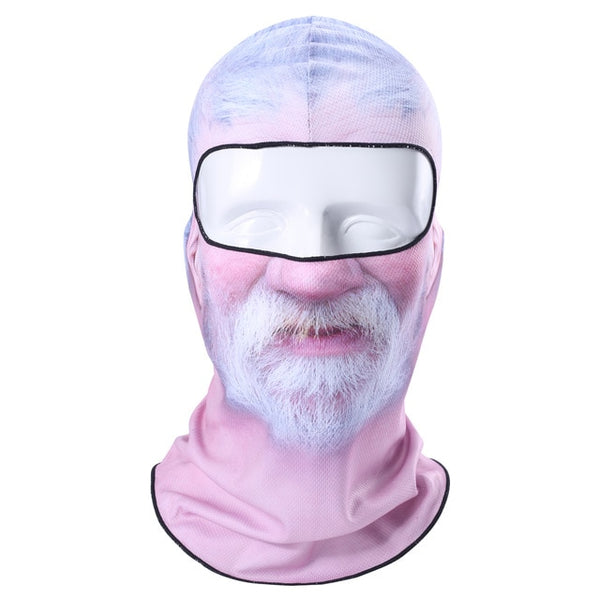 Beard Old Man Neck Warmer  Full Face Mask