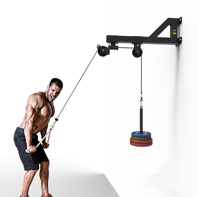 Home Gym Wall Cable Triceps Biceps Pulley System