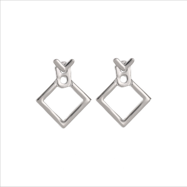 Trendy  Nickel Free Square Stud Earrings