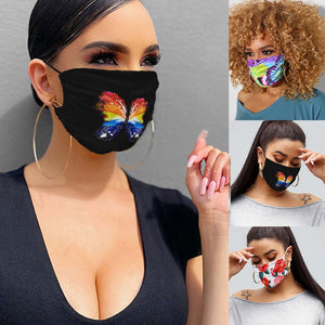 Butterfly Print Breathable Mask