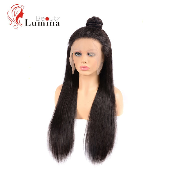 Pre Plucked With Baby Hair Remy Peruvian Straight Human Hair Wig