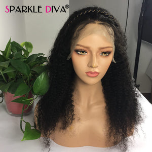 Curly Human Hair Wig 180% Density Brazilian Short And Long Human Hair Wigs Remy 360