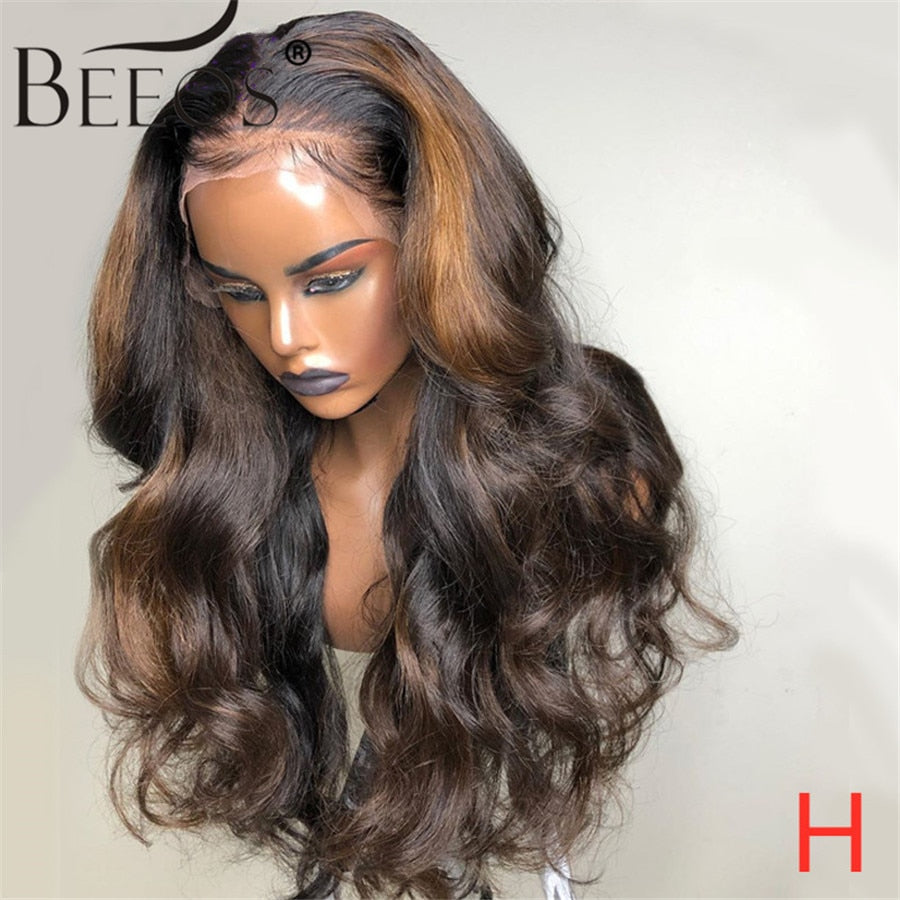 Deep Part Lace Front Human Hair Wigs Body Wave