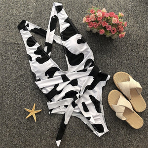 Cow Print Bathing Suit
