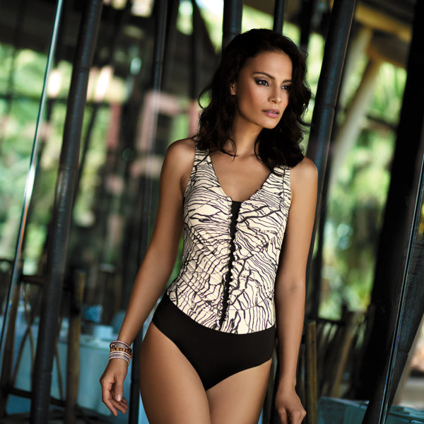 V-neck Monokini Push Up Padded Swimsuit
