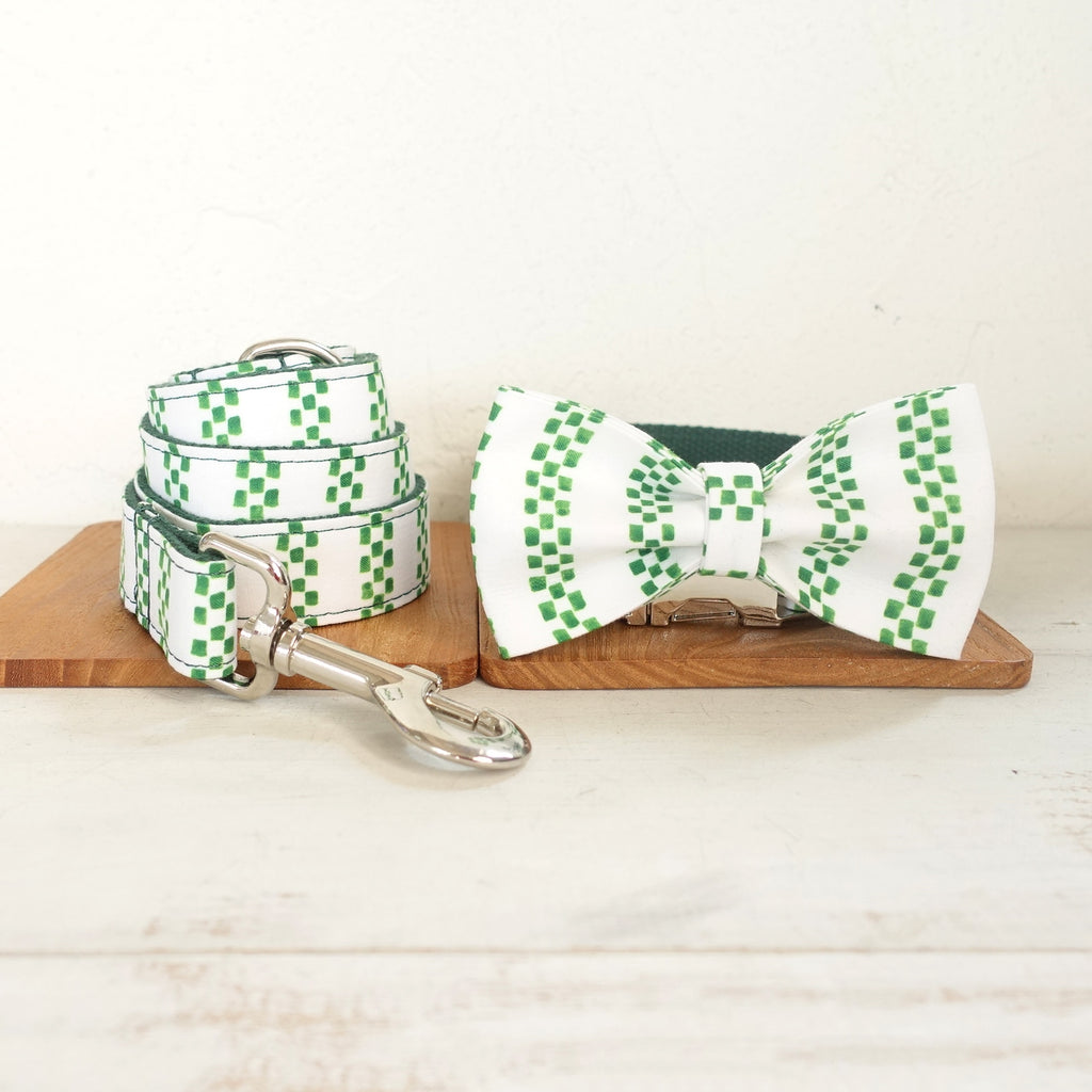 Bow Tie Dog Collar and Leash Set