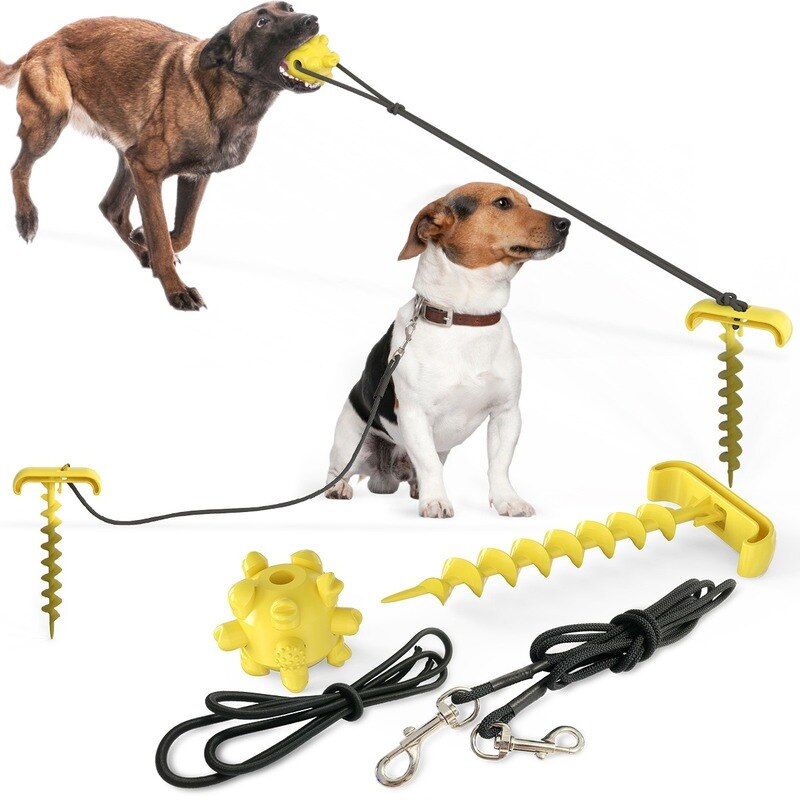 Dog Chew Toys for Aggressive Chewers With Portable Tie