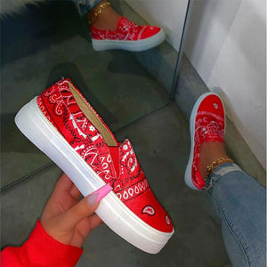 Graffiti Print Loafers