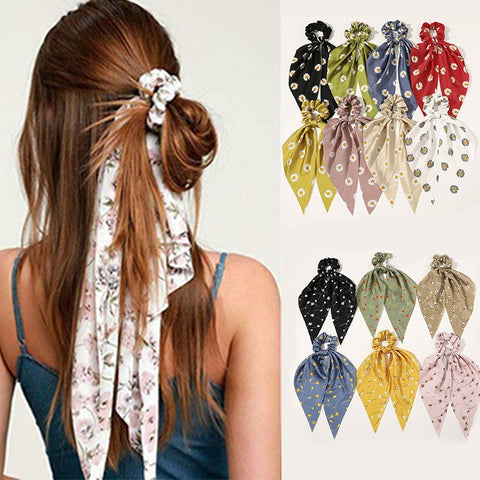 Fashion Floral Print Scrunchies