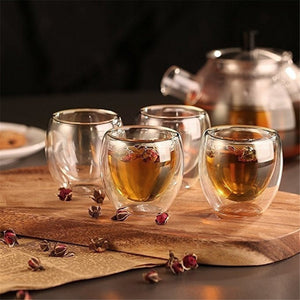 Heat-resistant Double Wall Glass Beer Espresso Coffee Cup