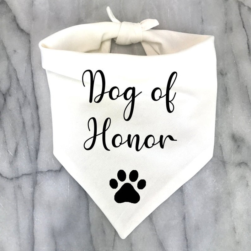 Best Dog of Honor Bandana Scarf