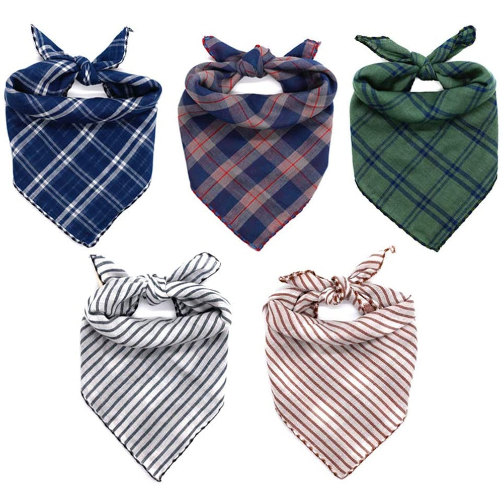 Dog Bandanas Reversible Plaid