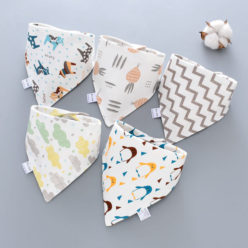 5pcs/set Dog Bandanas Large