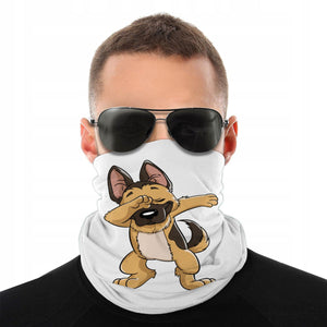 German Shepherd Dabbing Dog Scarf Face Covering