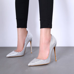 Knish's Silver Glitter Stiletto