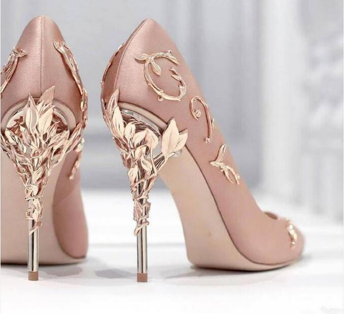 Knish's Metal Decor Wedding Heel