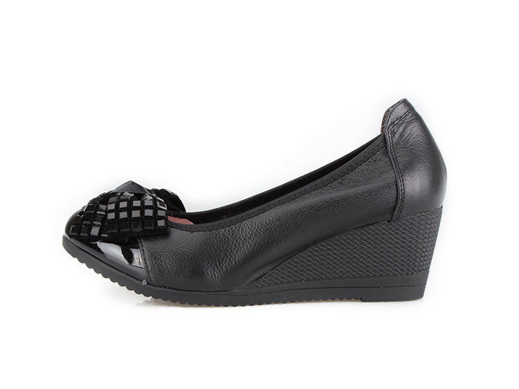 Knish's Genuine Leather Wedge