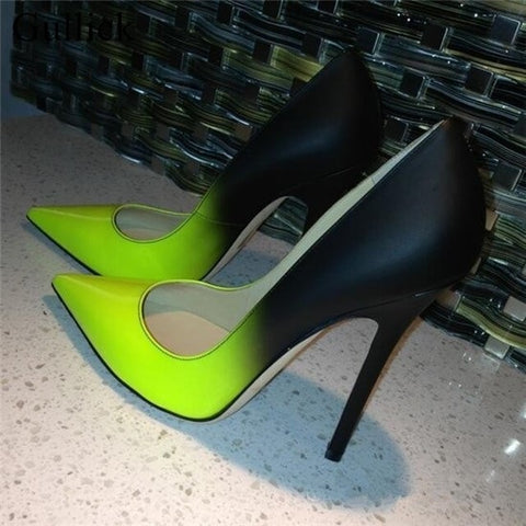 Black Green Gradient Stiletto