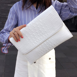 Leather Envelope Evening Clutch