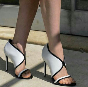 Black And White Elegant Heels