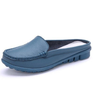 Knish's Soft Leather Half Slippers (BOGO)
