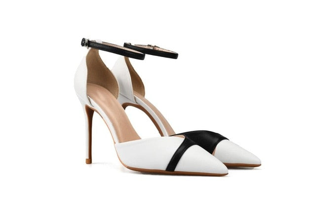 Knish's Black And White High Heels Stiletto