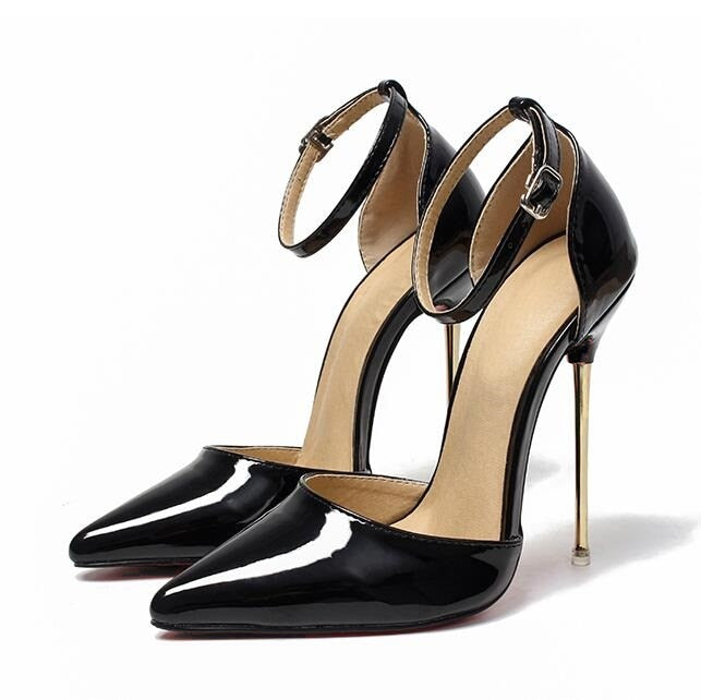 Clear Patent Leather Metal Heels