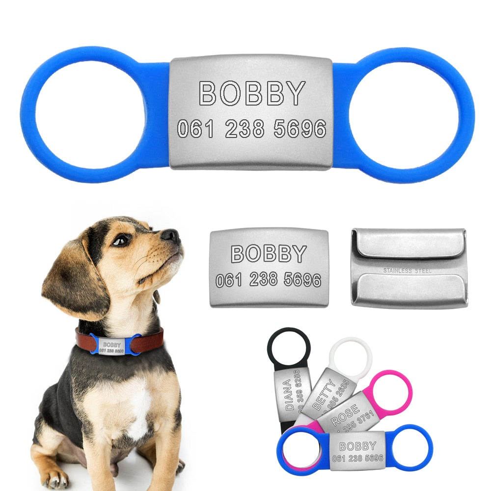 Customizable Dog Cat ID Engraved Pet Nameplate Tags