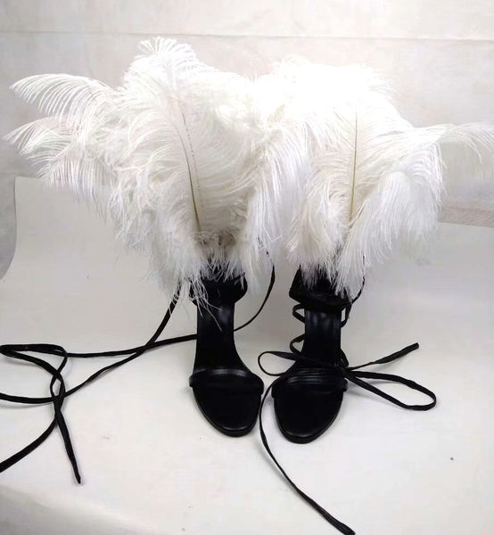 Knish's Full Feather Fur Heels
