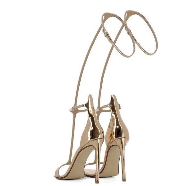 Knish's summer strap cover heels