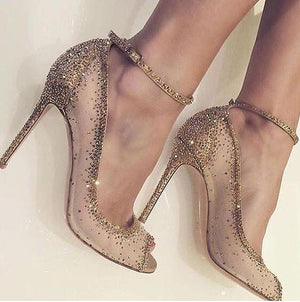Knish's Luxury Crystal Embellished Heels