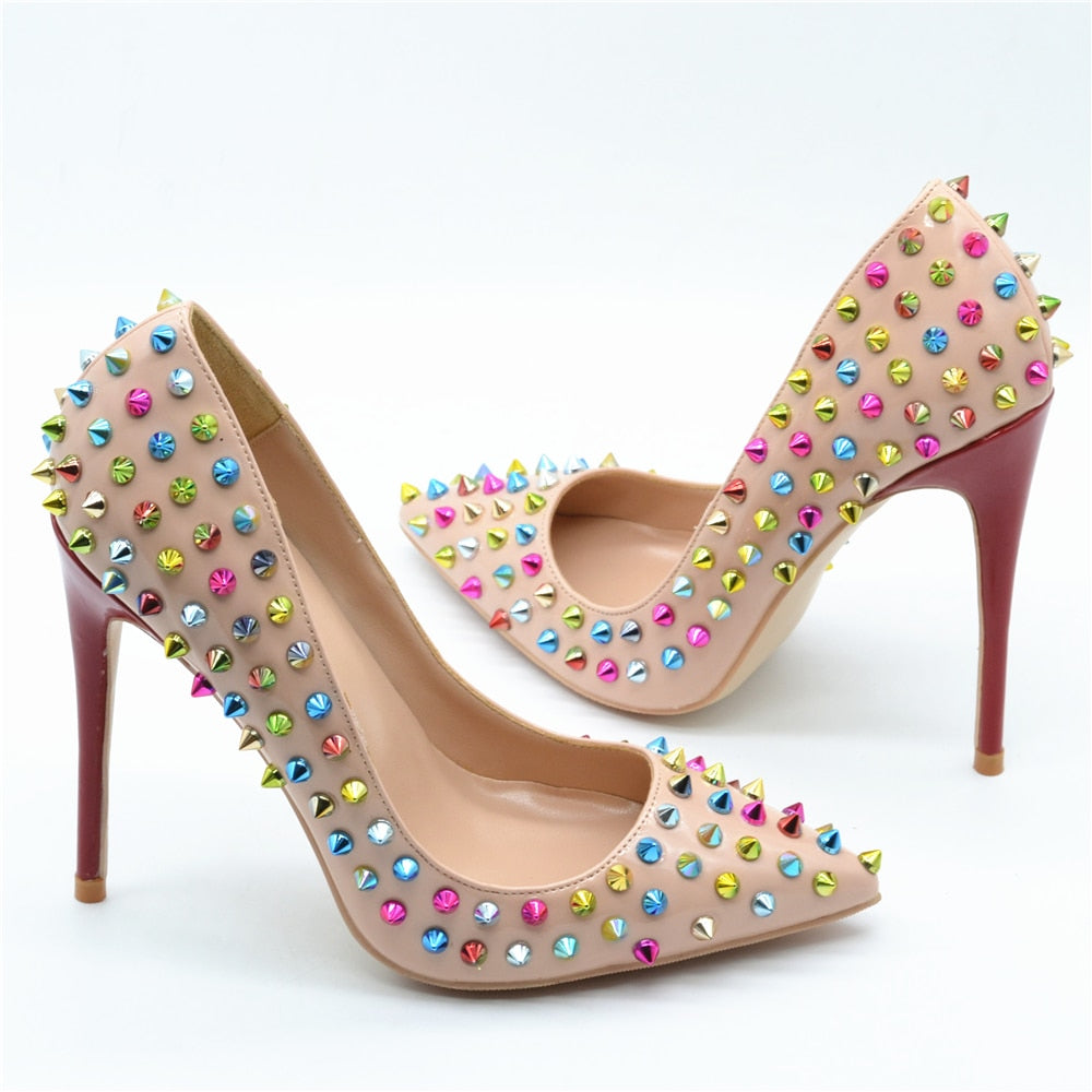 Knish's Colorful Spiked Studs Shoes