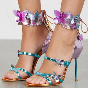 Knish's Butterfly High Heels