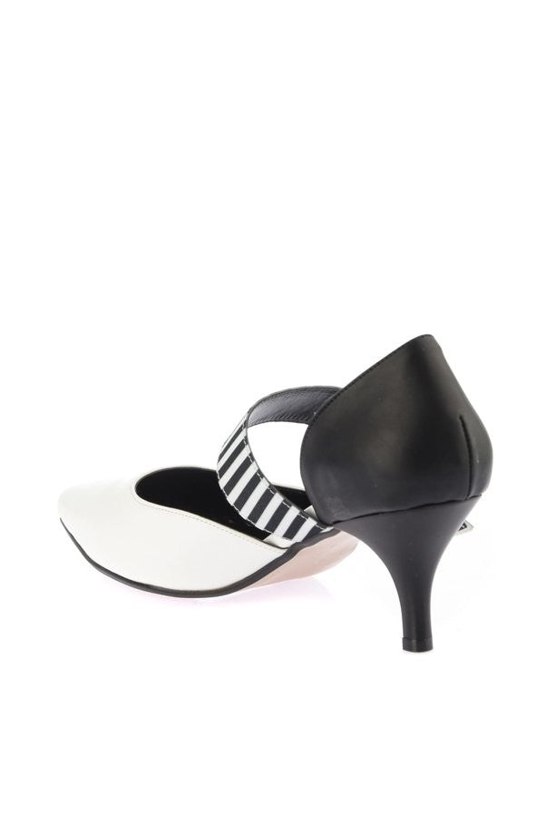 Knish's White Front High Heels